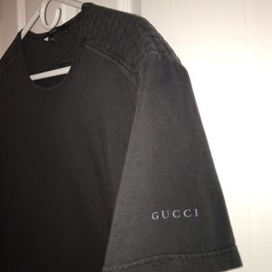 Gucci top dark grey short sleeve XXL